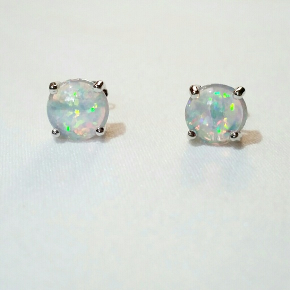 fire mm studs earring stud gemstone opal product natural